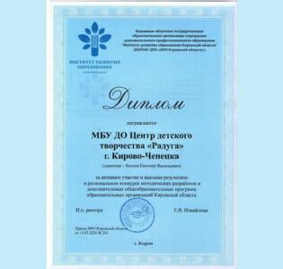 Стали известны итоги регионального конкурса «Методических разработок и дополнительных общеобразовательных программ»